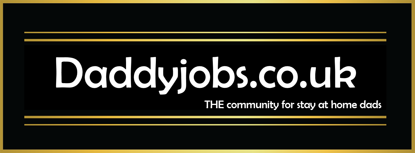 DaddyJobs Logo. The community for stay at home dads