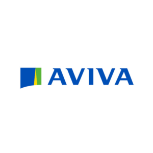 Aviva Logo Green and Blue